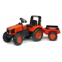 Tracteur kubota m135-gx + remorque (3/7 ans)