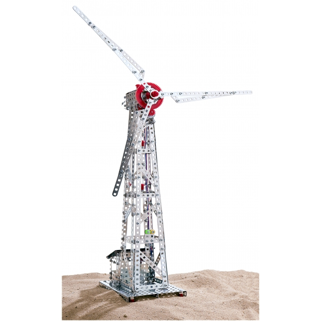 Wind Turbine with Solar Cell   626 parts
