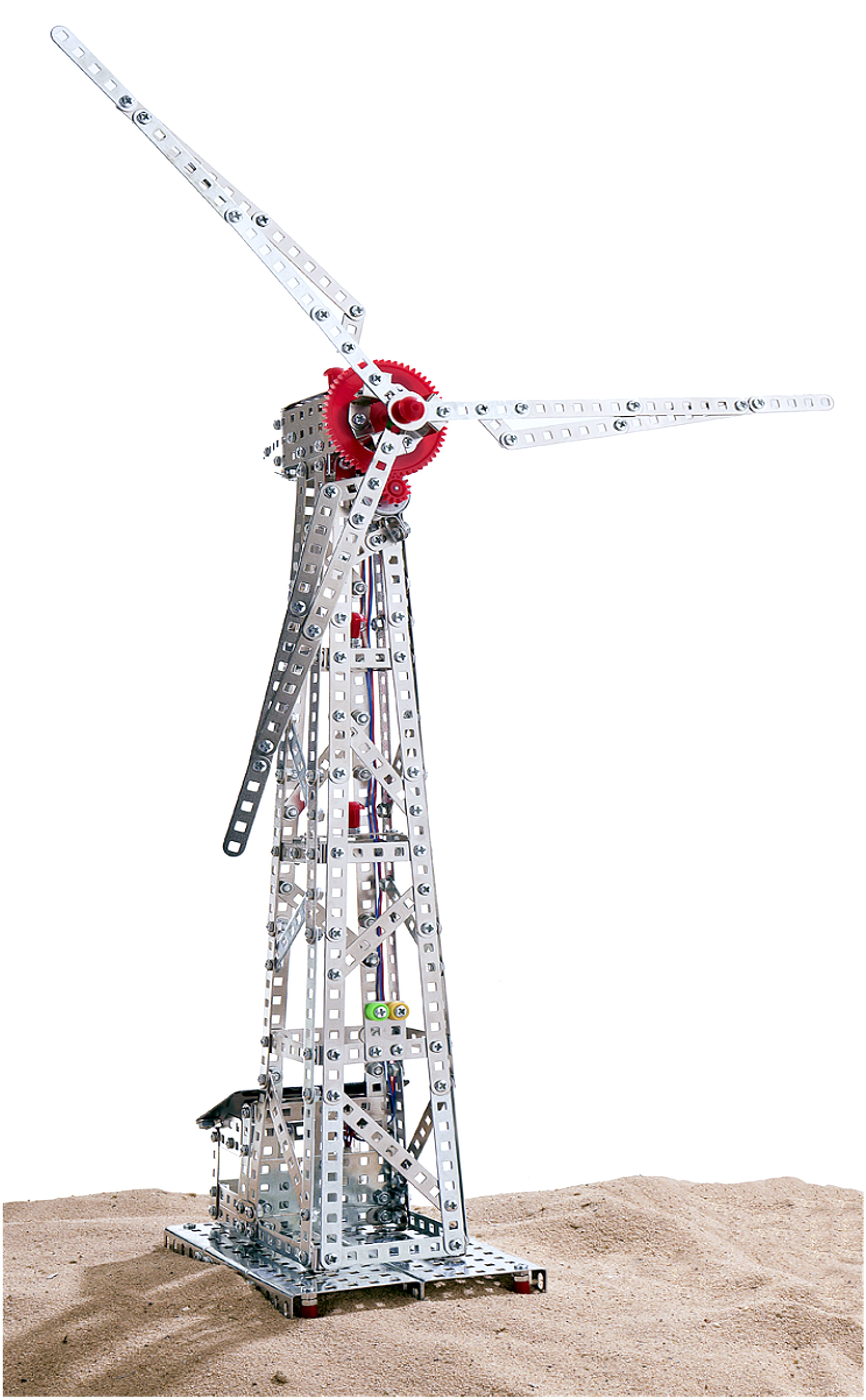 Wind Turbine with Solar Cell 626 parts AHM
