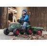 Tracteur à pédale Fendt 516 Vario avec Remorque