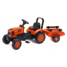 Kubota M7171 Pedal Tractor with Trailer
