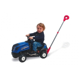 New Holland T7 Push-Along Tractor with Push & Steer Handle