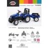 Tracteur New Holland T8.435 + remorque