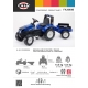 New Holland T8.435 Pedal Tractor with Trailer