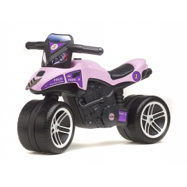 Pink Racing Push-Along Motorcycle
