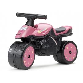 Rainbow Star Push-Along Motorcycle - Pink
