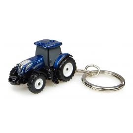 New Holland T7.225 Blue Power Tractor - Keychain Diecast - Universal Hobbies