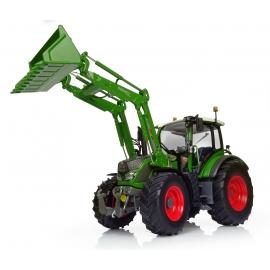 "Fendt 516 Vario w/Front Loader ""new Nature Green"" Tractor Diecast Replica - 1:32 Universal Hobbies"
