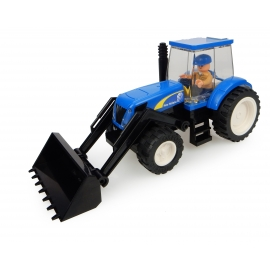 New Holland Tractor with Front Loader and Farmer - 70 pieces