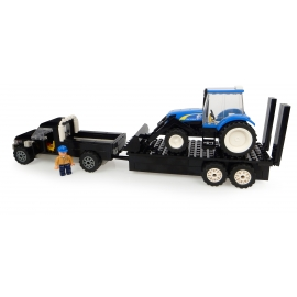 New Holland Pick Up with Tailer, Tractor with Front Loader and Farmer - 231 pieces