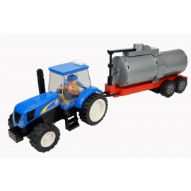 New Holland Tractor with Tanker and Farmer - 155 pieces